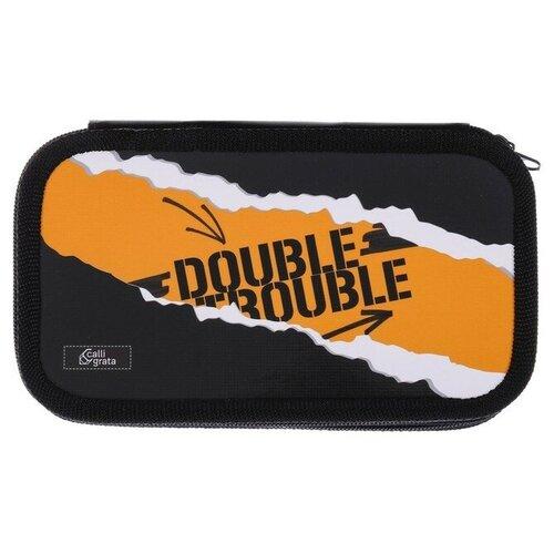 Calligrata Пенал Double trouble (4779624) черный/оранжевый пижама double trouble белый оранжевый 86 размер