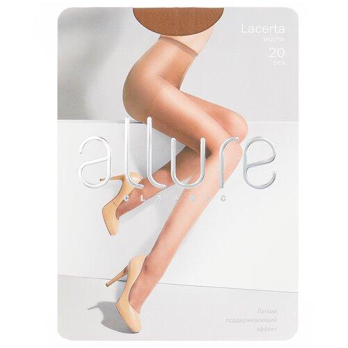 Колготки ALLURE Classic Lacerta, 20 den, размер 3, glase (золотистый) колготки allure classic lacerta 20 den размер 3 caramello бежевый