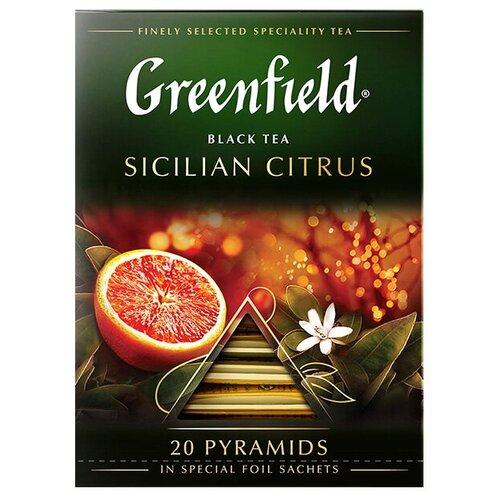 Чай черный Greenfield Sicilian Citrus в пирамидках, 20 шт. чай черный greenfield sicilian citrus в пирамидках 20 шт
