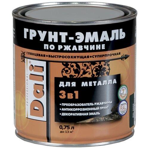 Фото - DALI по ржавчине 3-в-1 для металла Черный (Ral 9005) 0.75 л грунт эмаль dali по ржавчине 3 в 1 гладкая 0 75л черный