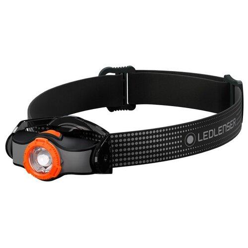 Фото - Налобный фонарь LED LENSER MH3 черный/оранжевый налобный фонарь mh3 черный с серым