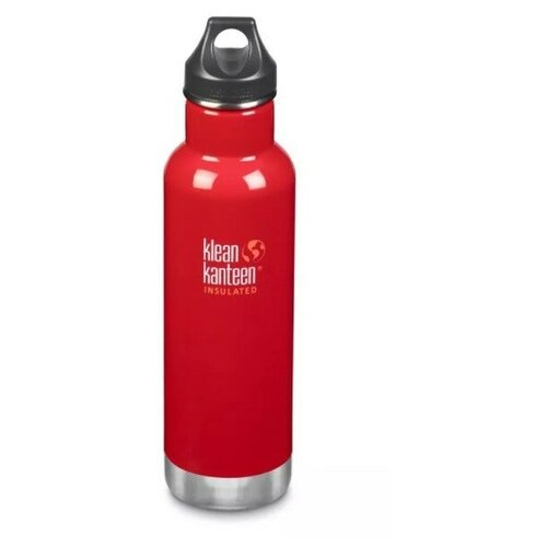 Термобутылка Klean Kanteen Classic Loop 20oz (592 мл) Mineral Red (MR)