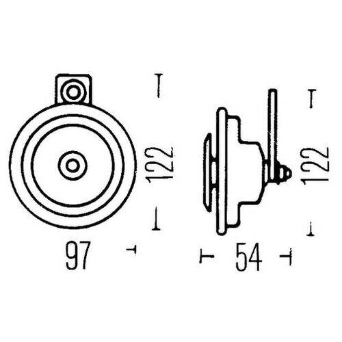 Звуковой сигнал Hella 3AL 002 952-887