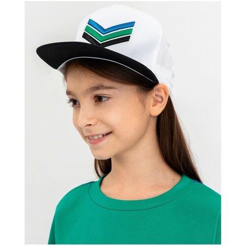 Купить Бейсболка Gulliver размер 56-58, белый/зеленый, Головные уборы