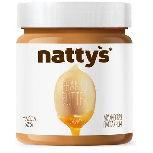 Паста-крем арахисовая Creamy с мёдом Nattys, 525 г nattys арахисовая паста chili с перцем чили и морской солью 325 г