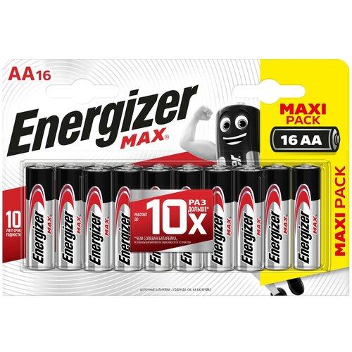 Фото - Батарейка Energizer Max AA/LR6, 16 шт. батарейка energizer ultimate lithium aa 4 шт