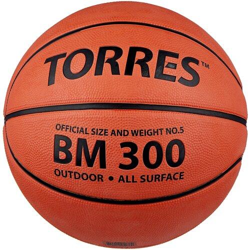 Баскетбольный мяч TORRES B00015, р. 5 темно-оранжевый/черный мяч баскетбольный torres slam b02065 р 5