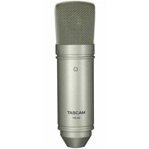 Микрофон Tascam TM-80, серебристый