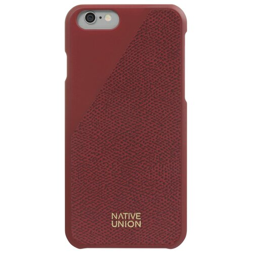 Чехол-накладка Native Union CLIC LEATHER для Apple iPhone 6/iPhone 6S bordeaux недорого