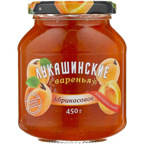 Фото - Варенье Лукашинские абрикосовое, банка, 450 г варенье лукашинские черничное банка 450 г