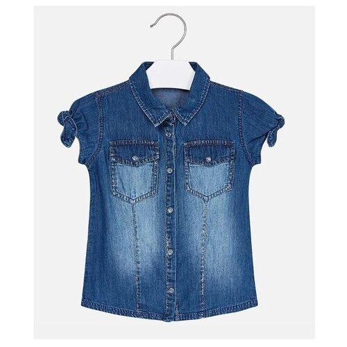 Рубашка Mayoral размер 6(116), синий рубашка fleur de vie 24 1860 рост 116 синий