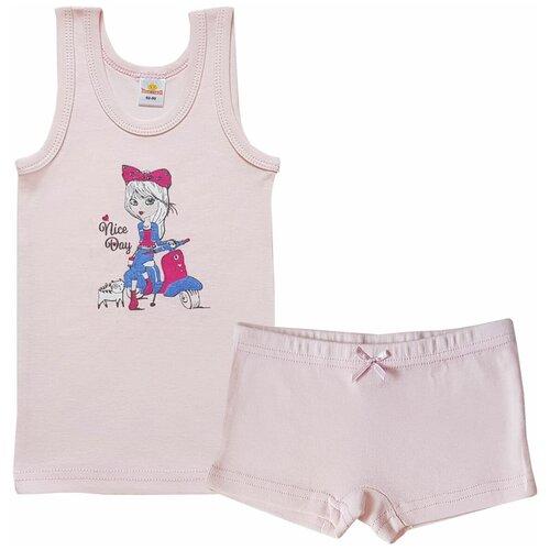 Купить Комплект нижнего белья Папитто размер 104-110, розовый, Белье и купальники
