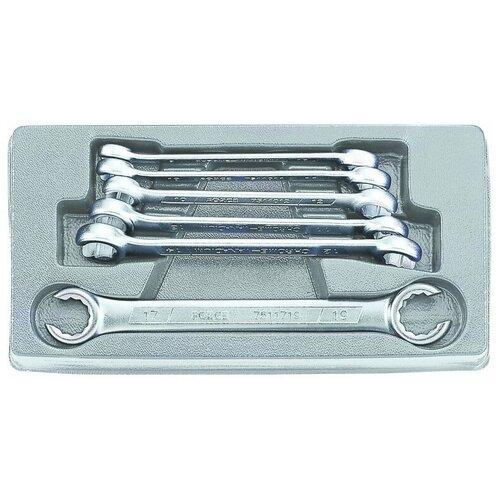 Набор гаечных ключей FORCE 5066, 6 предм., серый