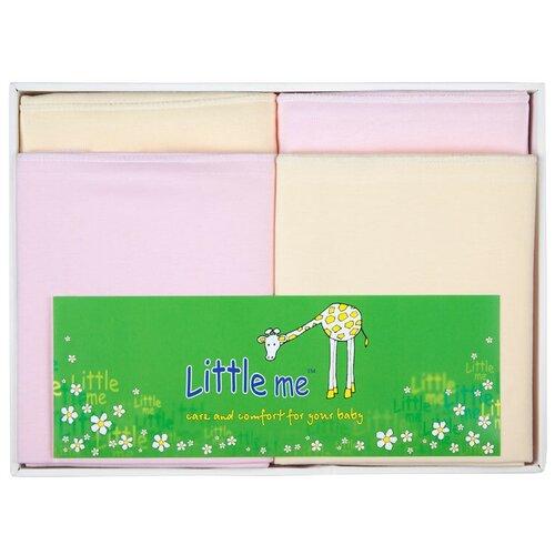 Купить Многоразовые пеленки Little Me теплый и тонкий трикотаж 120х90 набор 4 шт. для девочки, Пеленки, клеенки