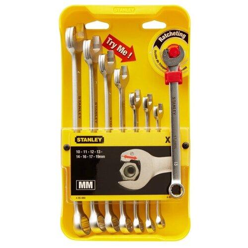 Набор гаечных ключей STANLEY 4-95-660, 8 предм., желтый/серебристый набор комбинированных гаечных ключей stanley maxidrive plus 8 шт