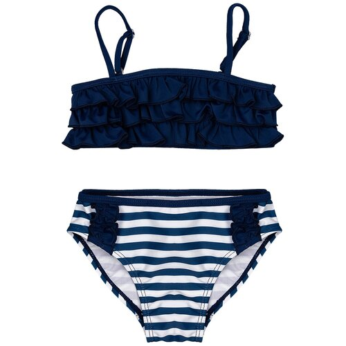 Купить Купальник Button Blue размер 104-110, синий, Белье и купальники