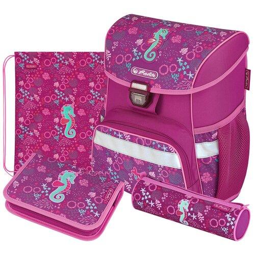 Купить Herlitz Ранец Loop Seahorse с наполнением, розовый, Рюкзаки, ранцы