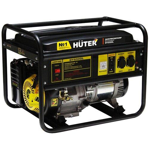 Бензиновый генератор Huter DY6500L (5000 Вт) бензиновый генератор huter dy6500lx 5000 вт