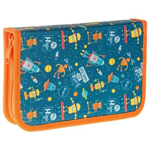 ArtSpace Пенал Cosmos (ПТ1_29082), синий/оранжевый недорого