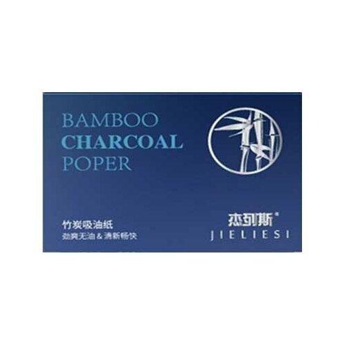 Jieliesi матирующие салфетки для лица с бамбуковым углем 80 шт. синий