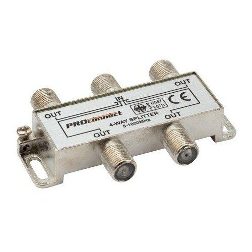 Фото - Делитель ТВ х 4 под F разъём 5-1000 МГц PROCONNECT делитель на 4 тв power pass 2774 2774
