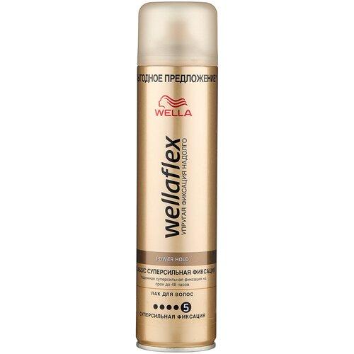 Купить Wella Лак для волос Wellaflex Классический суперсильной фиксации, экстрасильная фиксация, 400 мл