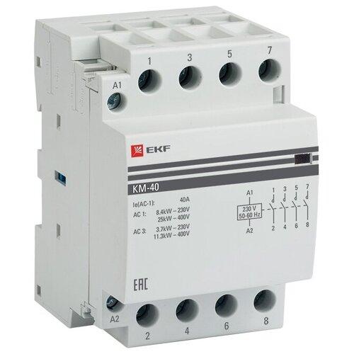 Модульный контактор EKF КМ 40А 4NО (3 мод.) PROxima 40А