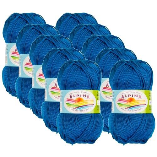 Купить Пряжа Alpina Anabel, 100 % хлопок, 50 г, 120 м, 10 шт., №995 яр.синий