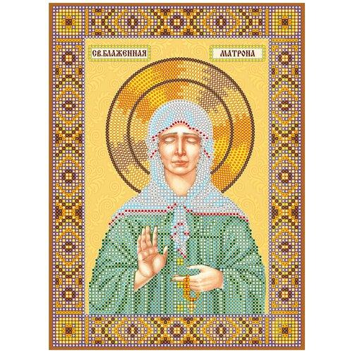 Схема для вышивки иконы бисером на холсте АБРИС АРТ ACK-163 Матрона Московская