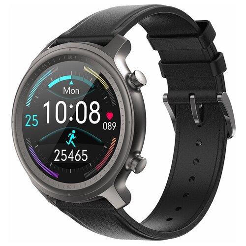 Часы Smart Watch Q1 GARSline черные (кожаный ремешок)
