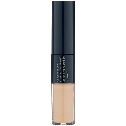 Фото - The Saem Консилер Cover Perfection Ideal Concealer Duo, оттенок 1.5 Natural Beige the saem консилер стик cover perfection stick concealer оттенок 1 5 natural beige