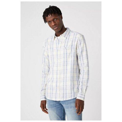 Рубашка Wrangler размер M белый/голубой