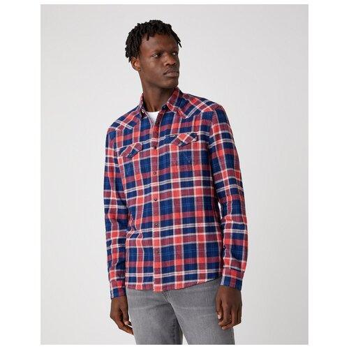 Рубашка Wrangler размер M красный/синий