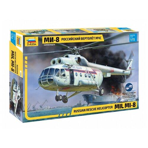 Купить Сборная модель ZVEZDA Российский вертолёт МЧС МИ-8 (7254) 1:72, Сборные модели