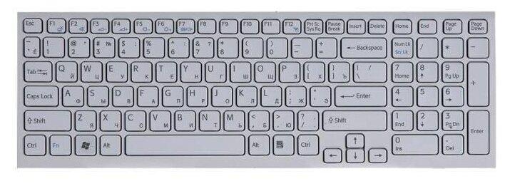 Клавиатура ZeepDeep для ноутбука Sony Vaio VPC-EL, 71C12V, VPCCW2S1R, VPCEL2S1R, PCG 71C11V, белая, гор. Enter — купить по выгодной цене на Яндекс.Маркете