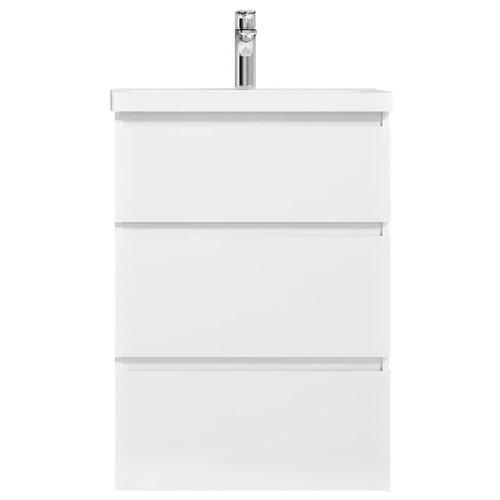 Фото - Тумба для ванной комнаты с раковиной AM.PM Gem S напольная (глянец), ШхГхВ: 60х42.5х81 см, цвет: белый глянец тумба для ванной комнаты с раковиной am pm like напольная шхгхв 80х45х85 см цвет белый глянец