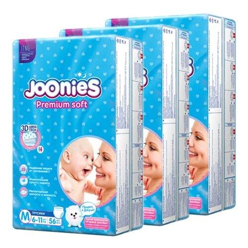 Joonies трусики Premium Soft M (6-11 кг), 168 шт.