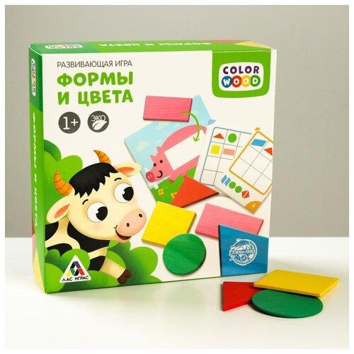Купить Развивающая игра Лас Играс Цвета и формы , с деревянными вложениями, Настольные игры