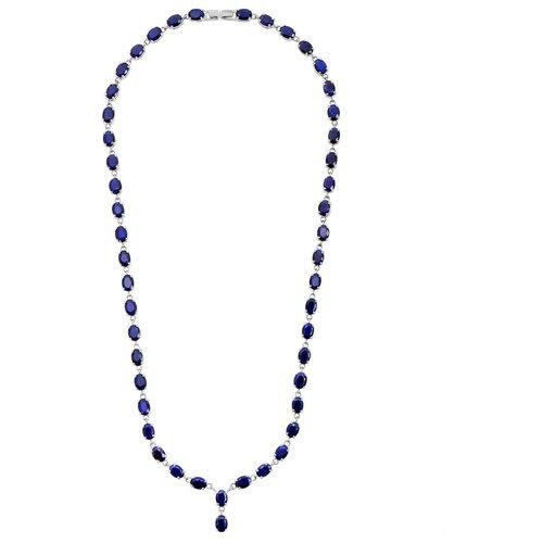 Balex Колье 9405937553 из серебра 925 пробы с сапфиром корундом природным, 50 см, 28.17 г