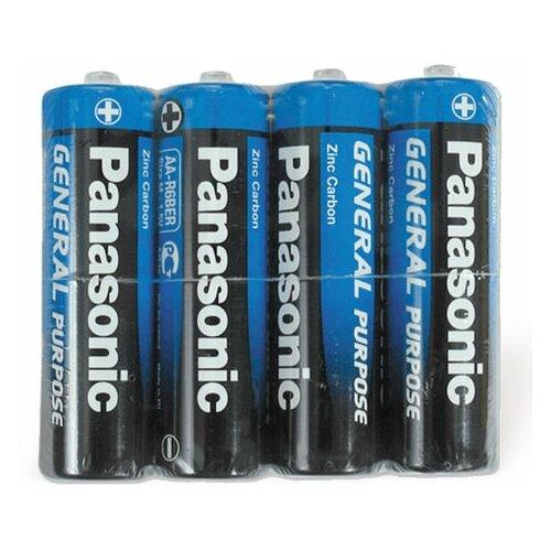 Фото - Батарейки комплект 4 шт., PANASONIC AA R6 (316), солевые, пальчиковые, в пленке, 1.5 В, 3 шт. батарейки panasonic c r14 пленка 2 шт
