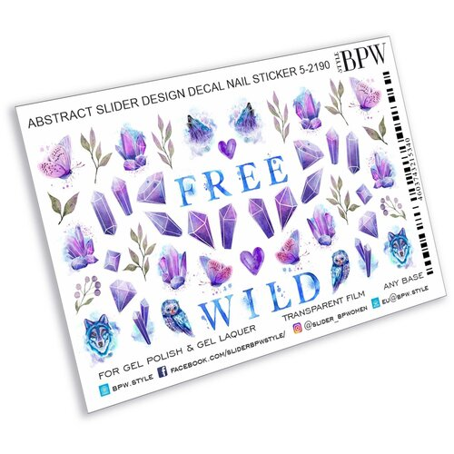 Купить BPW.Style, слайдер-дизайн (Фиолетовый с кристаллами, sd5-2190), BPW style