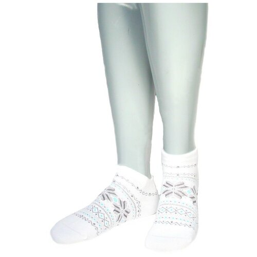 Носки женские Grinston 17D4 теплые укороченные, Белый, 23 (размер обуви 35-37)