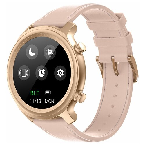 Часы Smart Watch Q1 GARSline розовые (кожаный ремешок)
