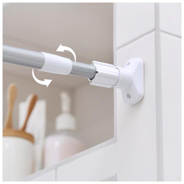 Карниз для ванной усиленный, серый, 140-260 см 2515992 — купить по выгодной цене на Яндекс.Маркете