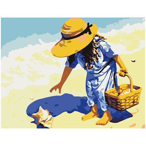Купить Картина по номерам На берегу, 70 х 100 см, Красиво Красим, Картины по номерам и контурам