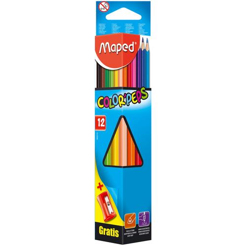 Фото - Maped Цветные карандаши Color Peps 12 цветов (183213) карандаши набор 18цв аквар maped color peps aqua кисть