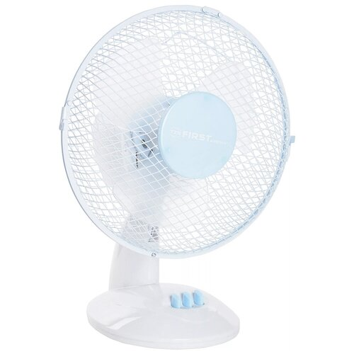 Настольный вентилятор FIRST AUSTRIA FA-5550 (FA-5550-BU), белый/голубой