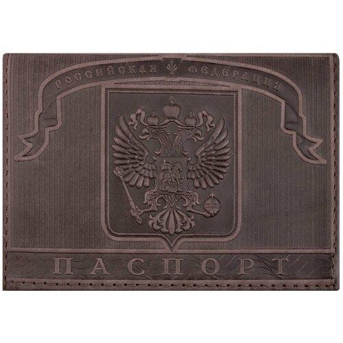 Обложка для паспорта BRAUBERG Герб 237186, коричневый