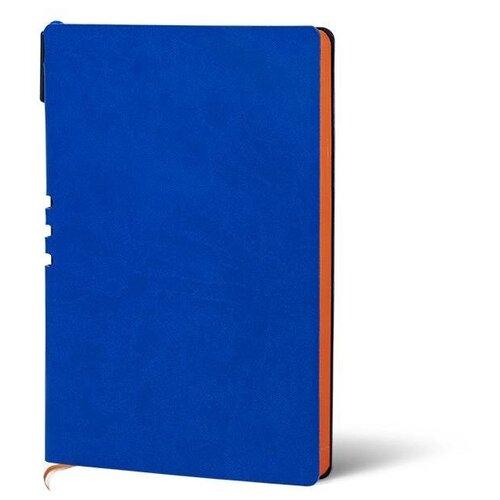 Купить Набор LOREX LXDRA5-CL, искусственная кожа, А5, 128 листов, синий/оранжевый, Ежедневники, записные книжки