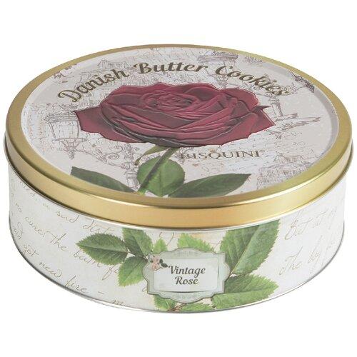 Печенье Bisquini сдобное Роза винтажная ассорти, 400 г